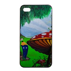Kindergarten Painting Wall Colorful Apple iPhone 4/4s Seamless Case (Black)