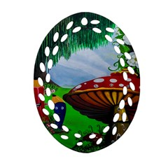Kindergarten Painting Wall Colorful Ornament (Oval Filigree)