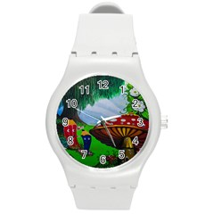 Kindergarten Painting Wall Colorful Round Plastic Sport Watch (M)