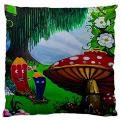 Kindergarten Painting Wall Colorful Large Cushion Case (two Sides)