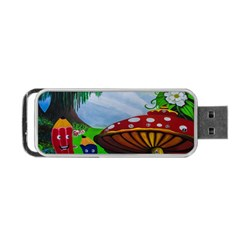 Kindergarten Painting Wall Colorful Portable USB Flash (Two Sides)