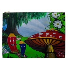 Kindergarten Painting Wall Colorful Cosmetic Bag (XXL)