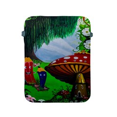 Kindergarten Painting Wall Colorful Apple Ipad 2/3/4 Protective Soft Cases