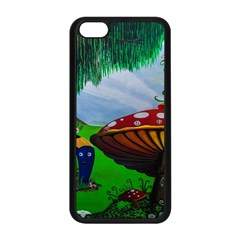 Kindergarten Painting Wall Colorful Apple iPhone 5C Seamless Case (Black)