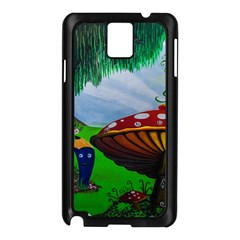 Kindergarten Painting Wall Colorful Samsung Galaxy Note 3 N9005 Case (black)