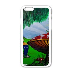 Kindergarten Painting Wall Colorful Apple Iphone 6/6s White Enamel Case