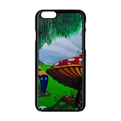 Kindergarten Painting Wall Colorful Apple iPhone 6/6S Black Enamel Case