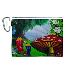 Kindergarten Painting Wall Colorful Canvas Cosmetic Bag (L)