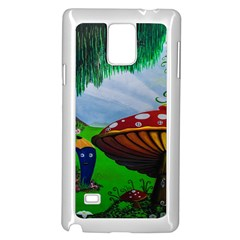 Kindergarten Painting Wall Colorful Samsung Galaxy Note 4 Case (White)