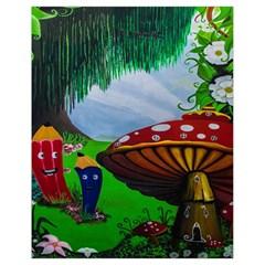 Kindergarten Painting Wall Colorful Drawstring Bag (Small)