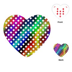 Pattern Template Shiny Playing Cards (Heart)