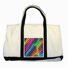Pattern Template Shiny Two Tone Tote Bag