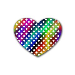 Pattern Template Shiny Heart Coaster (4 pack)