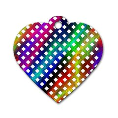 Pattern Template Shiny Dog Tag Heart (One Side)