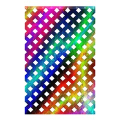 Pattern Template Shiny Shower Curtain 48  x 72  (Small)