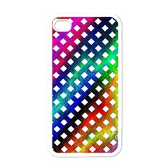 Pattern Template Shiny Apple Iphone 4 Case (white)