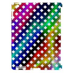 Pattern Template Shiny Apple iPad 3/4 Hardshell Case (Compatible with Smart Cover)