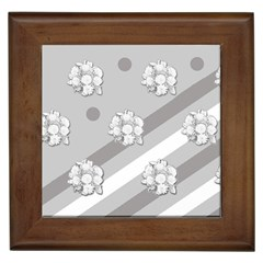 Stripes Pattern Background Design Framed Tiles