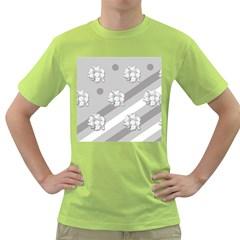 Stripes Pattern Background Design Green T-Shirt