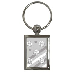 Stripes Pattern Background Design Key Chains (Rectangle)