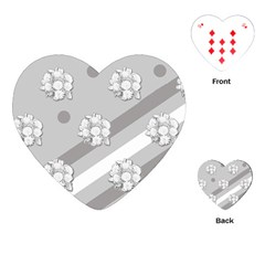 Stripes Pattern Background Design Playing Cards (Heart)