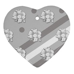 Stripes Pattern Background Design Heart Ornament (Two Sides)