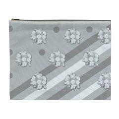 Stripes Pattern Background Design Cosmetic Bag (XL)