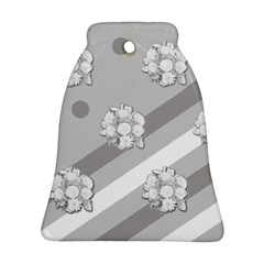 Stripes Pattern Background Design Bell Ornament (two Sides)