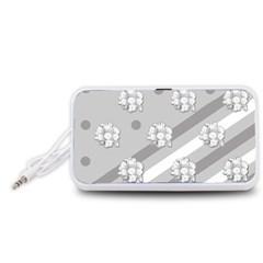 Stripes Pattern Background Design Portable Speaker (White)