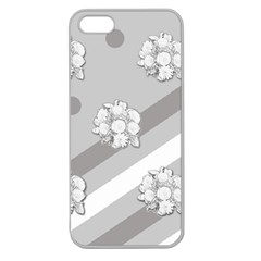 Stripes Pattern Background Design Apple Seamless Iphone 5 Case (clear)
