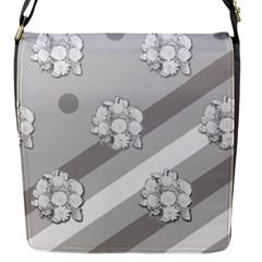 Stripes Pattern Background Design Flap Messenger Bag (S)