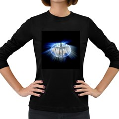 Energy Revolution Current Women s Long Sleeve Dark T-Shirts