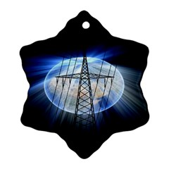 Energy Revolution Current Snowflake Ornament (Two Sides)
