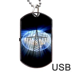 Energy Revolution Current Dog Tag USB Flash (One Side)