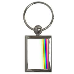Rainbow Side Background Key Chains (rectangle)
