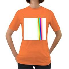 Rainbow Side Background Women s Dark T-Shirt