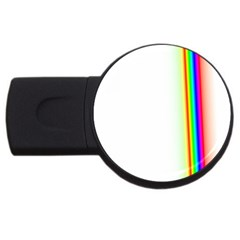 Rainbow Side Background USB Flash Drive Round (4 GB)