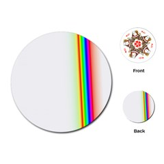 Rainbow Side Background Playing Cards (Round)