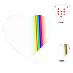 Rainbow Side Background Playing Cards (Heart)