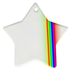 Rainbow Side Background Star Ornament (Two Sides)