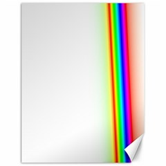 Rainbow Side Background Canvas 12  x 16