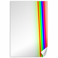 Rainbow Side Background Canvas 24  x 36