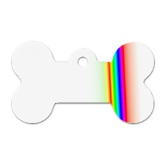 Rainbow Side Background Dog Tag Bone (One Side)