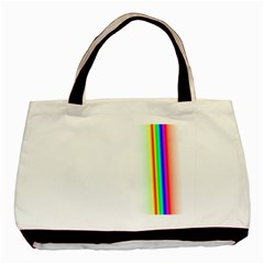 Rainbow Side Background Basic Tote Bag (Two Sides)