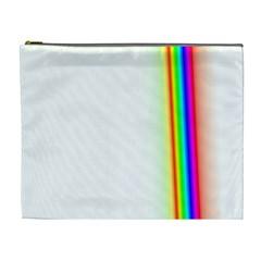 Rainbow Side Background Cosmetic Bag (XL)
