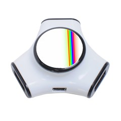 Rainbow Side Background 3-Port USB Hub