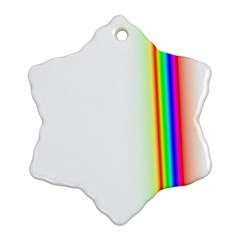 Rainbow Side Background Snowflake Ornament (Two Sides)