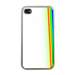 Rainbow Side Background Apple iPhone 4 Case (Clear)