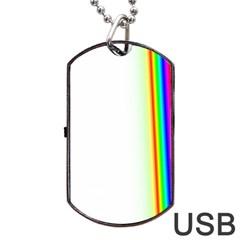 Rainbow Side Background Dog Tag USB Flash (One Side)