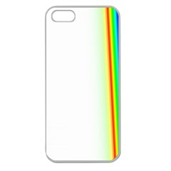Rainbow Side Background Apple Seamless iPhone 5 Case (Clear)